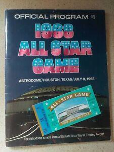 1968 MLB ALL STAR GAME PROGRAM & TICKET