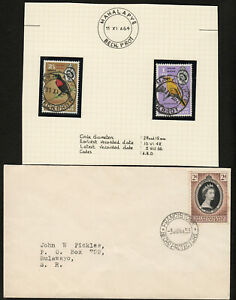 BECHUANALAND PROTECTORATE 1953 COVER & 1964 QEII ISSUES FINE USED. A218