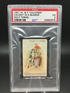 1901 w. & f. faulkner #nno golf terms; caught in a bunker psa 3 - pop 3, 16 high