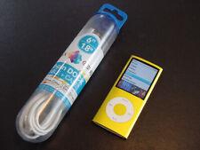 ~~Near-Mint & NEW Battery~~ Apple iPod nano 4th Gen Yellow 8 GB w/Cable BUNDLED