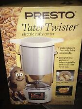 Presto Tater Twister Electric Curly French Fry Fries Potato Cutter Slicer 02930