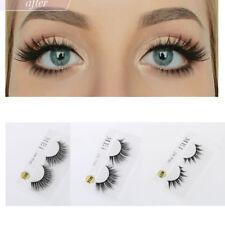 MakeupTool Mink Handmade 3D False Eyelashes Thick Cross Faux Eyelashes Extension