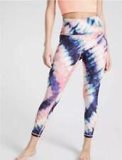 ATHLETA Elation Tie Dye 7/8 Tight Leggings XS X-SMALL Coral Workout Yoga