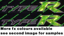 Honda Civic Type R fn2 fk2 fk8 K20 VTEC X 2 Lado Falda Panel Pegatinas FX Colores