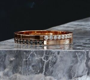 14K Rose Gold Plated Eternity Unique Engagement & Wedding Ring 1.0 Ct Diamond