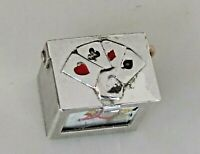 DECK of CARDS in BOX Movable Vintage Sterling Silver Charm RARE