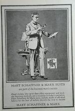1923 Hart Schaffner & Marx Business Man's Suit original advertising
