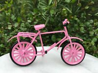 Miniature Dollhouse FAIRY GARDEN Furniture ~ PINK Metal Bicycle ~ NEW