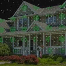 Red Green Snowflakes & Trees - Premium Instant Laser Projection Light with Color