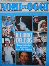 NOMI di OGGI n°6 1986 - Il libro dell'anno 1986  [C58]