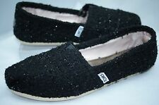 New Toms Women's Shoes Classics Black Size 7 Loafers Boucle Flats Slippers