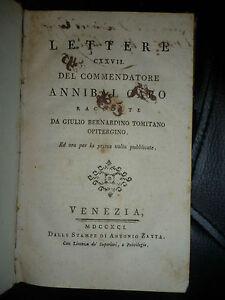 LETTERE CXXVII DEL COMMENDATORE  ANNIBAL CARO - VENEZIA ZATTA 1791