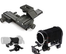 Lens Macro Fold Bellows + 4-Way Macro Focusing Rail For Canon 5DII 550D 1100D 7D