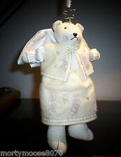 Christmas Angel Bear By Russ Xmas Ornament/Home Decor Glitter & Gold Free Ship!