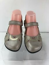 Naot Rongo Mary Jane Dusty Silver Leather Flats Slip On Shoes Womens 37 US 6/6.5