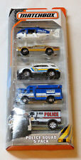 Matchbox Police Squad 5 pack Helicopter Sheriff Police State CJM03 Mattel NEW