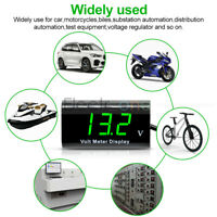 "0.56"" Digital Panel Green 12V LED Voltmeter IPX6 Waterproof Volt Meter For Car"