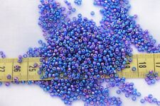 Dark Blue AB 9/0 Miyuki Glass Seed Beads Crafts Jewelry Making  1oz