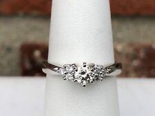 PLATINUM 1/2CT DIAMOND ENGAGEMENT RING SIZE 7