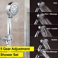 5 Modes Adjustment Shower Head Home Bathroom Rain Shower With Shower Hose   @FV