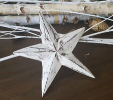 Star/starfish/Xmas decorations, wood, white washed, XL, hanging home decor item