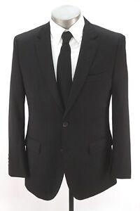 mens black HUGO BOSS Johnstons1 blazer jacket sport suit coat reda wool 38 S