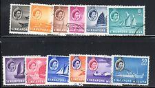 SINGAPORE 1955 QUEEN ELIZABETH ISSUE -- TWELVE VALUES