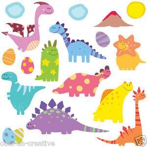 Wall Stickers Dinosaurs Baby Nursery Kids Room Decor Decals G1 SuperCute Dino8