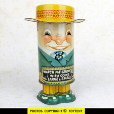 Dandy Banker vintage Grow-tall tin litho coin bank Apex Novelty