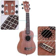 """ammoon 21"""" Acoustic Ukulele Sapele 15 Fret 4 Strings Stringed Instrument V0M4"""