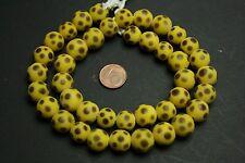 Strang yellow brown eye skunk beads /  lampwork Augen Perlen