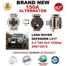FOR LAND ROVER DEFENDER L317 2.4 Td4 4x4 122bhp 2007-2016 NEW 150A ALTERNATOR