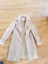 Badgley mischka Beigde Beautiful Fur Coat