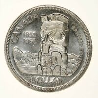 Raw 1958 Canada $1 Uncertified Ungraded Canadian Silver Dollar Coin