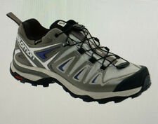 Salomon X-Ultra 3 GORE-TEX Hiking Shoe; Khaki/beige/blue Waterproof; Women's 10