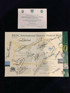 F1 Original Authentic Autograph Menu Beltoise, Gethin, Regazzoni, 12 OTHERS