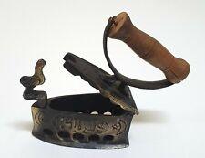 Vintage Handmade Turkish Decor Mini Iron Heavy Brass Showpiece Wooden Handle