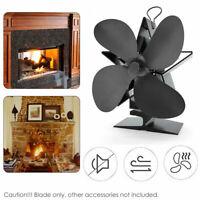 Heat Powered Mini Stove Top Fan Wood Log Burning Fire Burner 4 Blade Design Fans