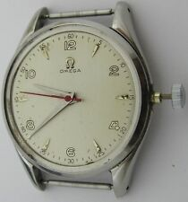 Omega 283 17 jewels watch movement & s. steel case 2504 9 for parts ... 35.8 mm