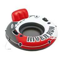 "Intex River Run 1 53"" Inflatable Water Tube Lake Pool Ocean Raft, Red (Open Box)"