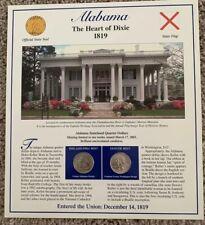 2003 Alabama Postal Society Commemorative Statehood Quarter Collection Sheet