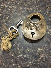New ListingExcellent condition old brass padlock lock Corbin with Key Holmes E.P Co