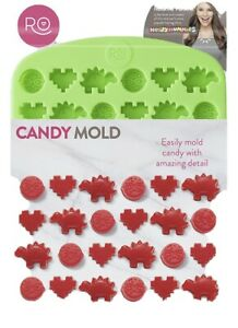 Rosanna Pansino Green Silicone Candy Gummies Mold 42 Cavities Wilton  FREE SHIP!