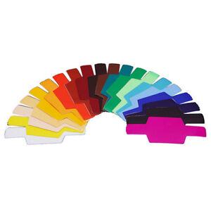 FLash/Speedlite/Speedlight Color Gels Filter 20pc w/Gels-Band kitH*wkPTUK