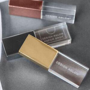 Crystal USB 2.0 Flash Drive Customize Photography Wedding Gift Elegant Black Box