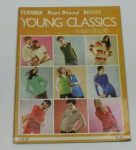 Vintage 1970 Young Classics in Sizes 8 to 16 Kids Clothing Knitting Patterns