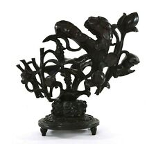 1900's Chinese Hardwood Hard Wood Carved Stand for Horn Carving 34 CM - AS IS