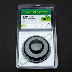 Weed Eater Dual Line Trimmer Head Bump Feed For Gas Trimmers Fits Most .080 New