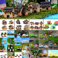 Fairy Garden Miniature Stone House Figurine Craft Micro Landscape Ornament Decor