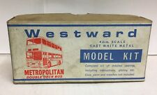 WESTWARD METROPOLITAN DOUBLE DECK WHITE METAL BUS KIT 1-76 SCALE